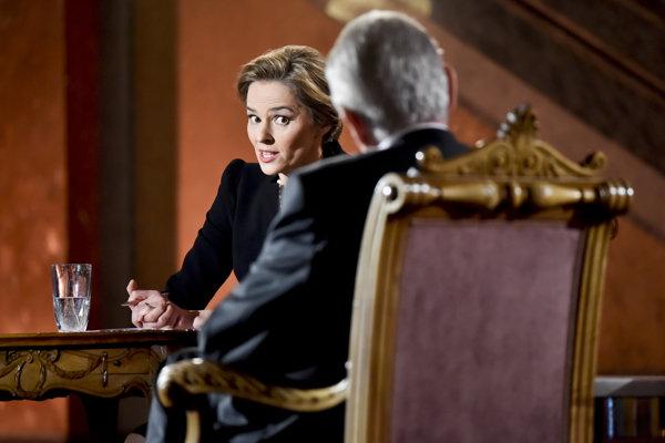 Světlana Witowská v diskusii neustupovala ani prezidentovi Milošovi Zemanovi.