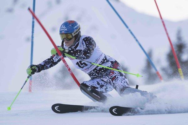 Veronika Velez-Zuzulová počas pretekov.