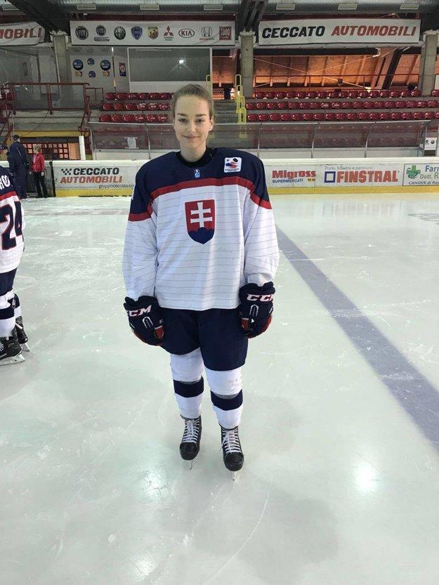 Nikola Nemčeková v reprezentačnom drese.