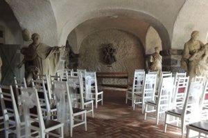 Bývalá kočiareň historickej radnici v Kremnici slúži ako miesto pre sobáše.