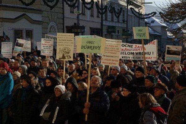 Detvania v minulosti protestovali aj v Banskej Bystrici.