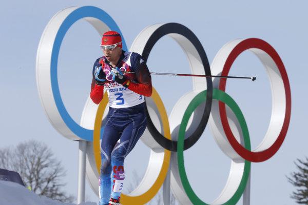 Bežec na lyžiach Alexander Legkov.