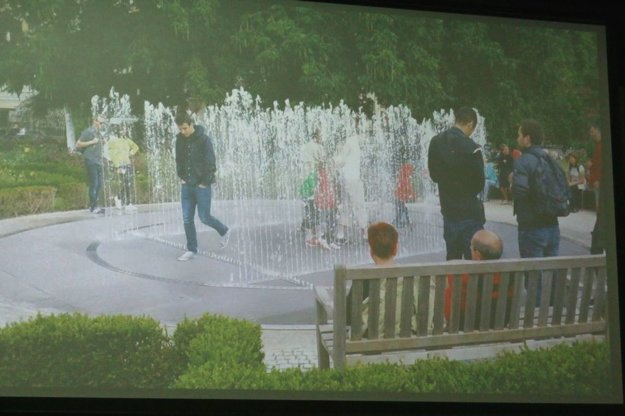 Predstava architekta o možnom výzore fontány v Bojniciach.