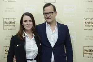 Noví majitelia kaštieľa, Petra a Róbert Vydrovci.