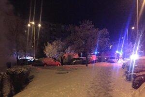 Zásah hasičov na Varšavskej ulici.