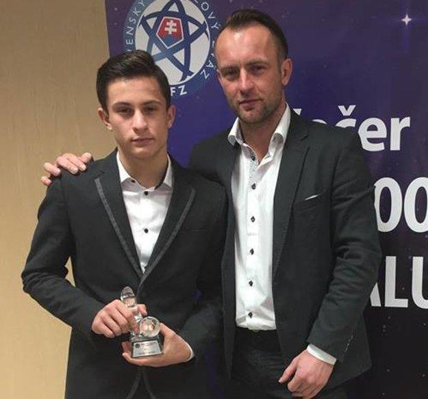 Adrián Kaprálik s otcom Dušanom.