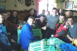 Futbalisti Belej na chate pod Borišovom.