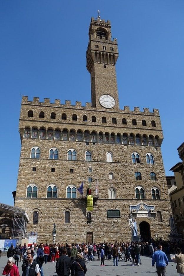 Palazzo Vecchio, výrazná pevnosť vo Florencii.