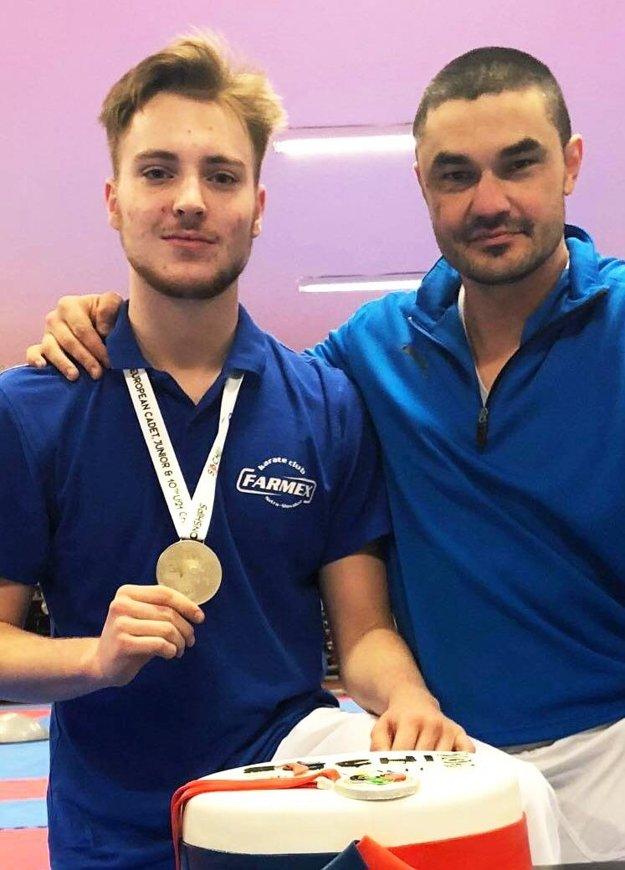 Tomáš Kósa s trénerom Klaudiom Farmadínom.