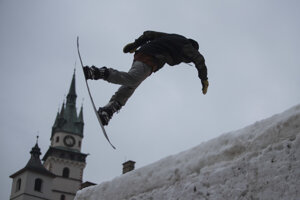 Snowboardista Ľubomír Mlynček.