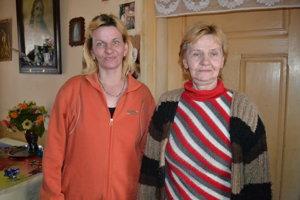 Miroslava Gicová s mamou Katarínou.