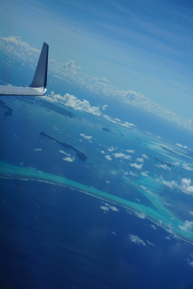 Ostrov Palau z vtáčej perspektívy.
