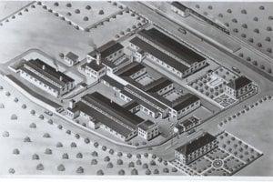 Plán fabriky v roku 1939