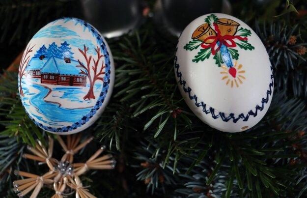 Vianočné kraslice z husacích vajec.