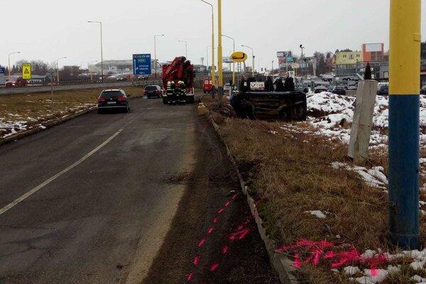 Po nehode v Prešove na Petrovanskej ulici.