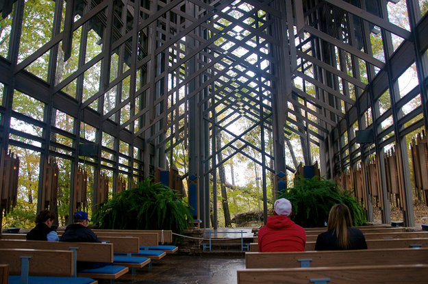 Thorncrown Chapel, USA.