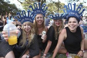 Prípravy na silvestrovské oslavy v Sydney.