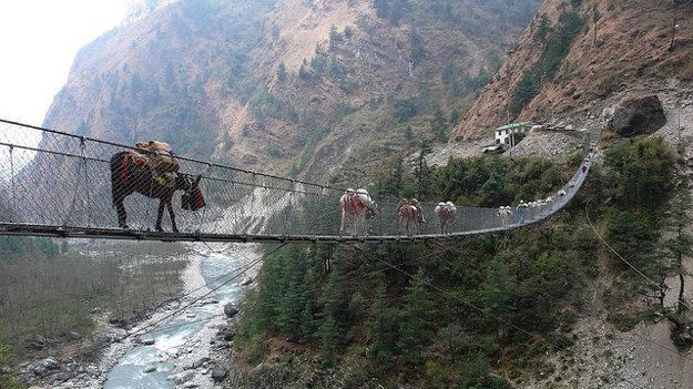 Nepál.  Ghasa