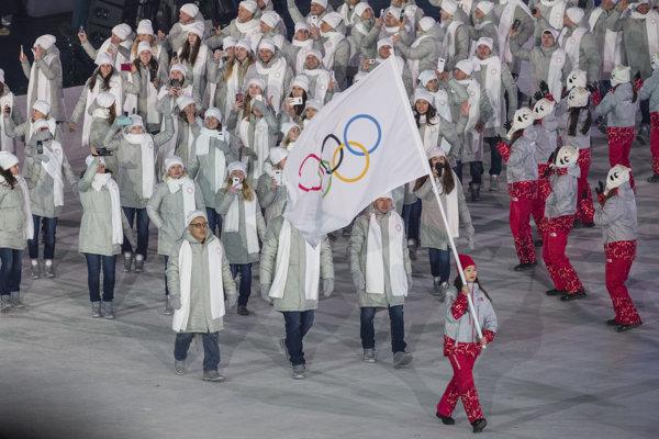 Ruskí športovci dúfajú v omilostenie, aby na záverečnom ceremoniáli mohli ísť pod Ruskou vlajkou.