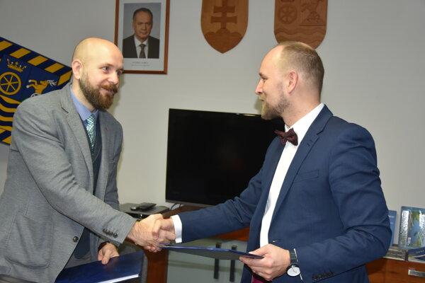 Primátor Bročka so županom Viskupičom.