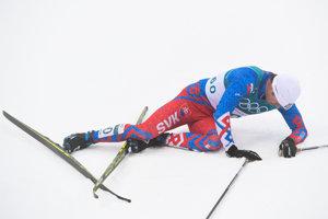 Slovenský reprezentant v behu na lyžiach Peter Mlynár v cieli pretekov na 50 kilometrov takmer ani nedýchal.