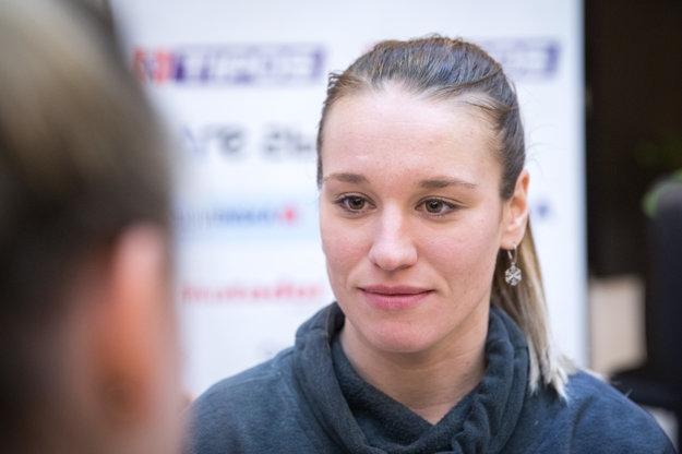 Slovenská biatlonistka Paulína Fialková počas brífingu po návrate zo ZOH 2018.