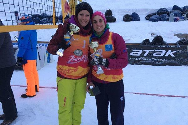 Silvia Poszmiková a Eva Eleková na Štrbskom Plese