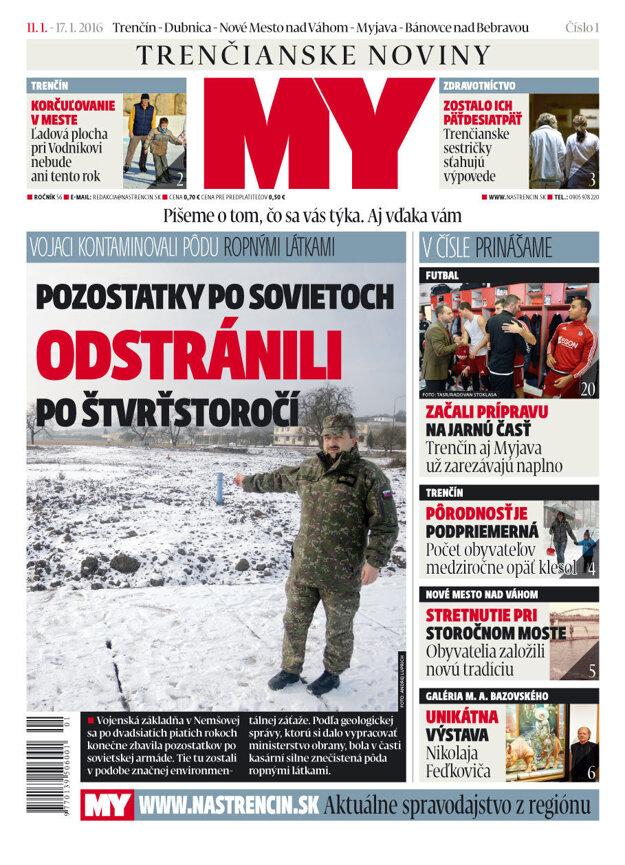 Prvé číslo MY Trenčianskych novín.