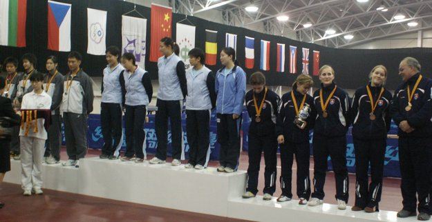 MS škôl 2006, Šanghaj (Čína) – sprava vedúci družstva Štefan Peko a Denisa Malá