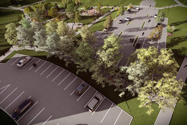 V priestore vznikne aj vyasfaltované parkovisko s riadnym dopravným značením.