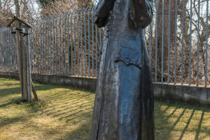 Socha J. W. Kempelena v parku Vodárenského múzea