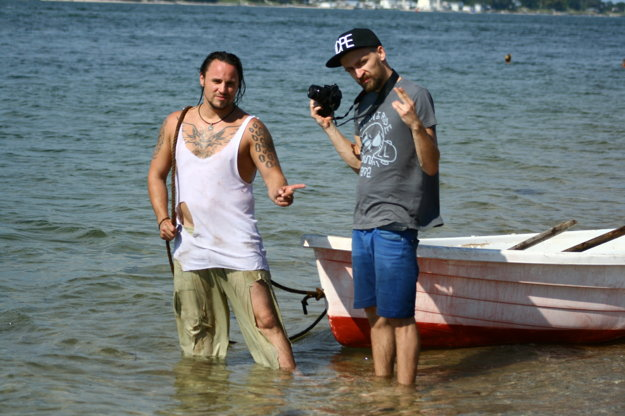 Robo a režisér jeho videoklipu Randy Cold.