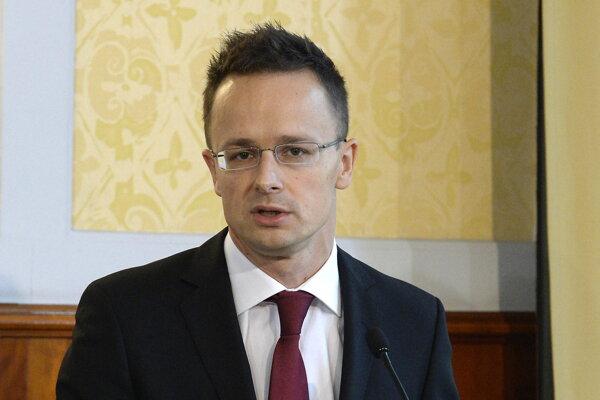 Maďarský minister zahraničných vecí Péter Szijjártó.