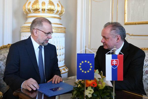 Ladislav Miko na stretnutí s prezidentom Andrejom Kiskom.