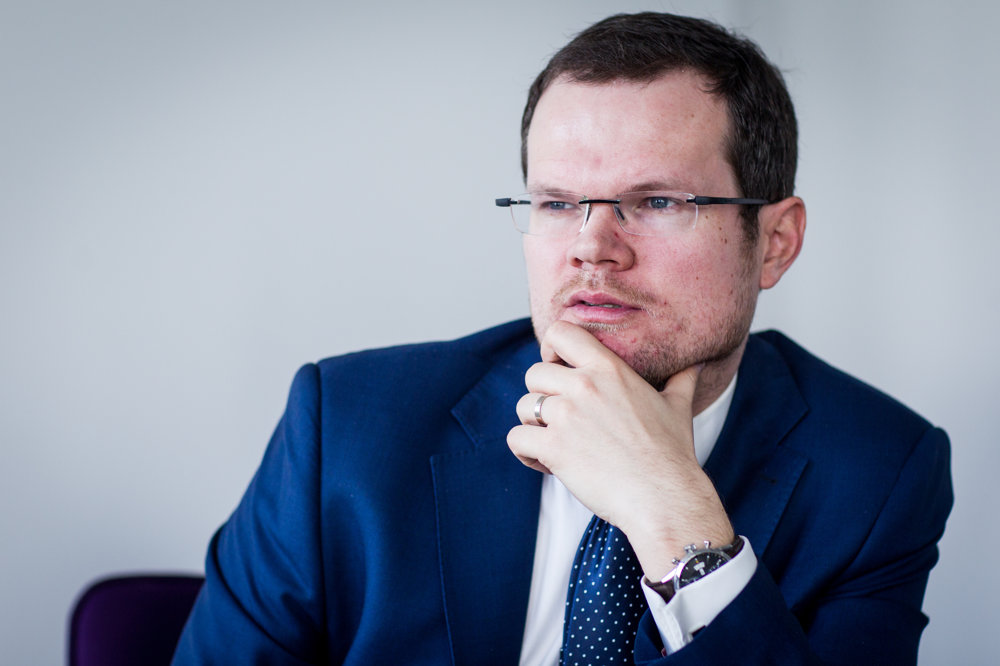 Advokát Peter Kubina počas rozhovoru pre denník SME.
