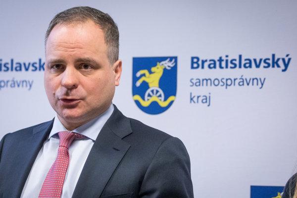 Predseda Bratislavského samosprávneho kraja (BSK) Juraj Droba.