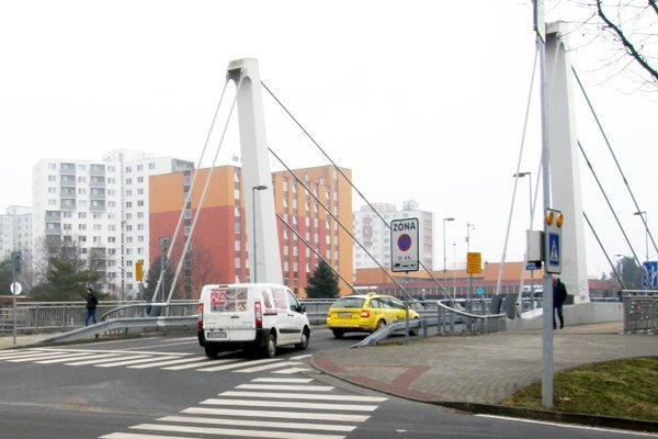 Chrenovský most, pohľad z Wilsonovho nábrežia.