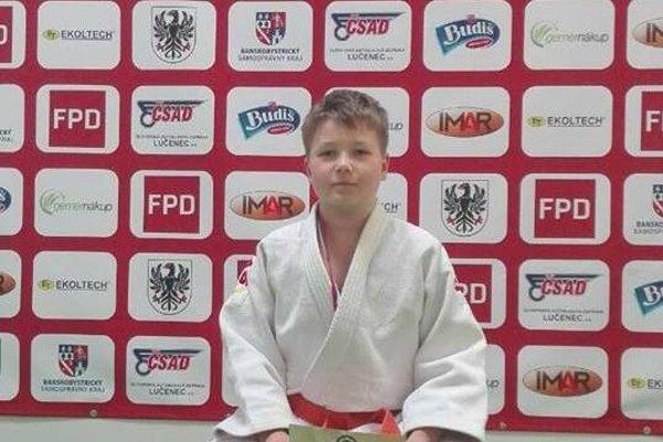 Oliver Solenský, člen oceneného tímu ŠK Zemplín Judo.