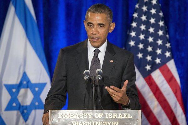 Obama prehovoril na izraelskom veľvyslanectve vo Washingtone.