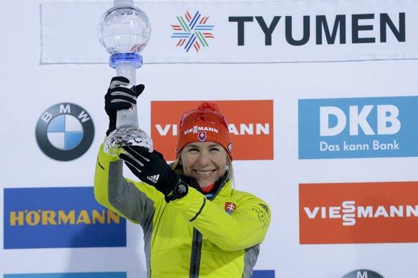Anastasia Kuzminová získala svoj druhý malý glóbus.