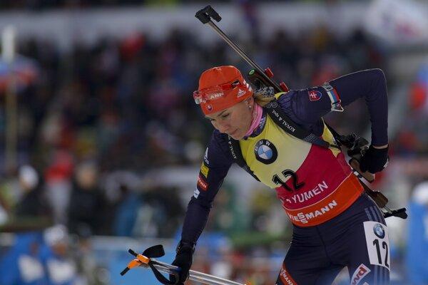 Anastasia Kuzminová skončila v stíhacích pretekoch šiesta.