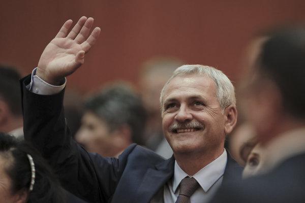Predseda Sociálnodemokratickej strany (PSD) Liviu Dragnea.