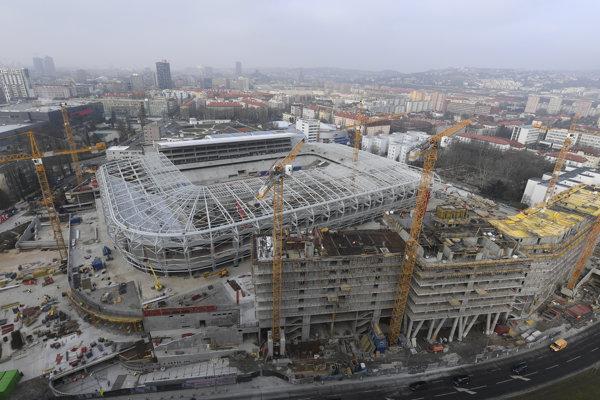 Pohľad na Národný futbalový štadión, 28. marec 2018.
