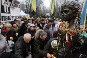 Pomník obetiam veľkého hladomoru v Kyjeve.