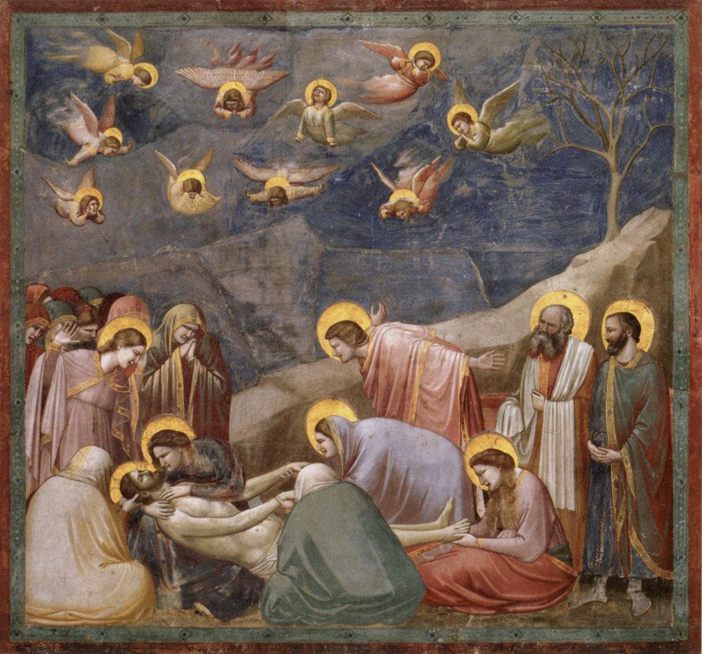 Giotto: Oplakávanie Krista (okolo roku 1305)