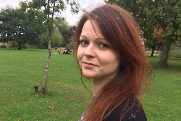 Julija Skripaľová, dcéra špióna Sergeja Skripaľa.