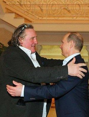 Gérard Depardieu a Vladimir Putin v ruskom Soči.