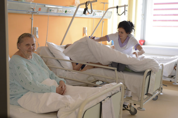 Interné oddelenie Fakultnej nemocnice s poliklinikou J. A. Reimana v Prešove 1. februára.