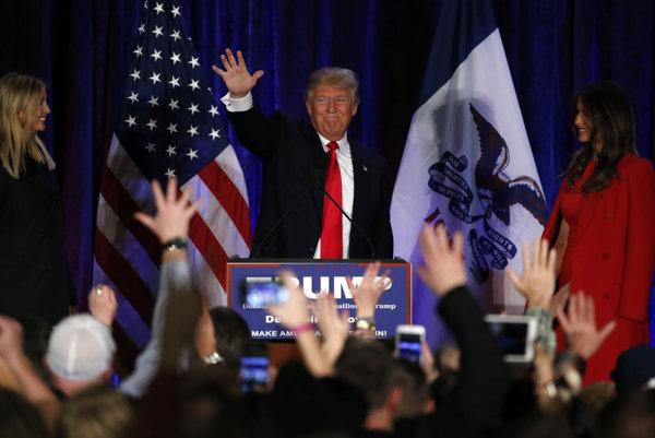 Trump v Iowe prehral, no predniesol prejav víťaza.