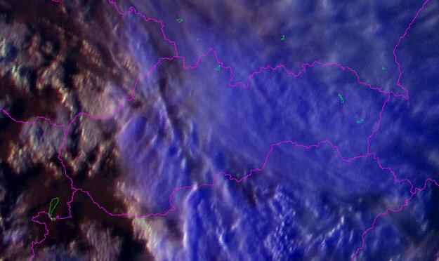 Pohľad z družice o 18.30 h.